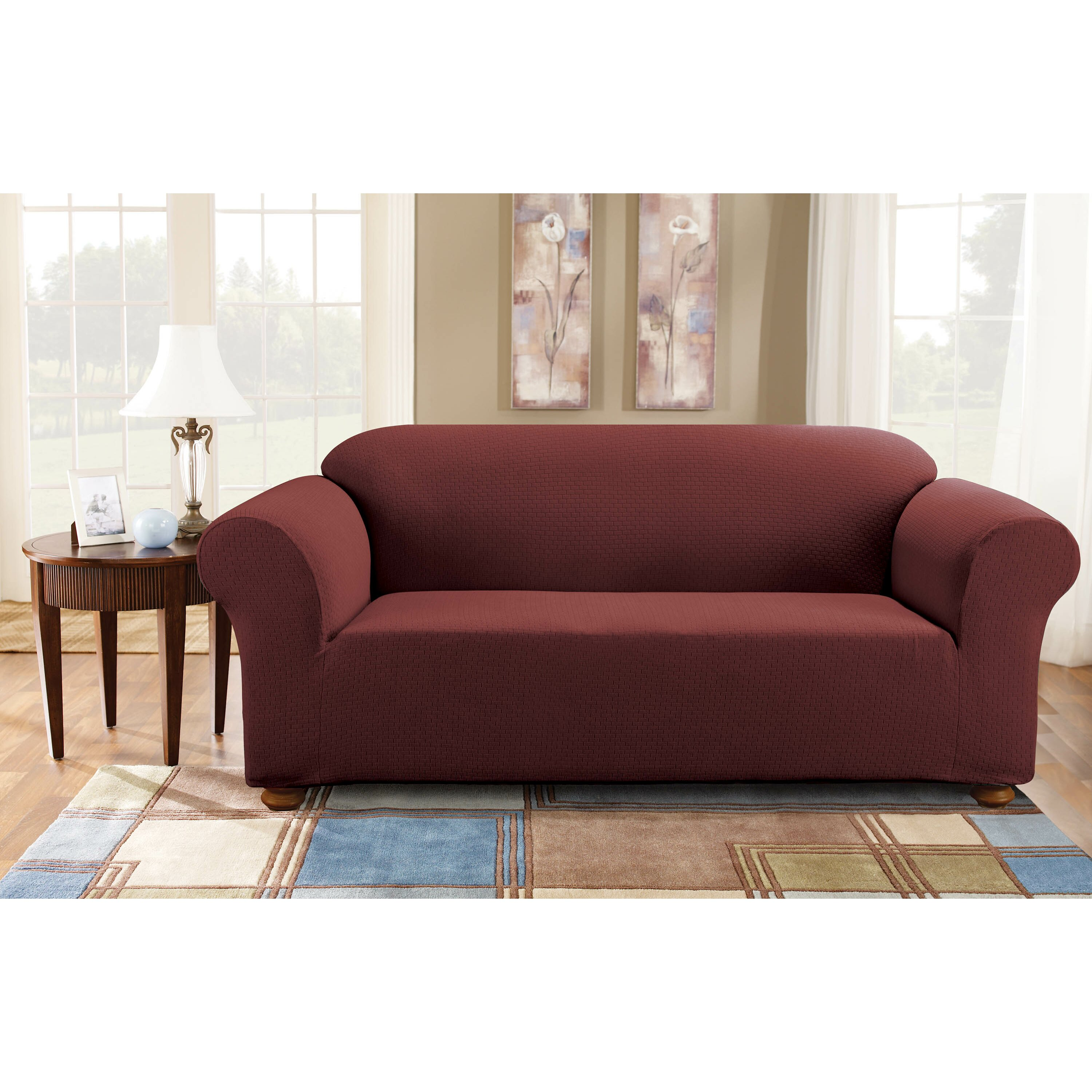 Sure Fit Simple Stretch Subway Sofa Slipcover & Reviews