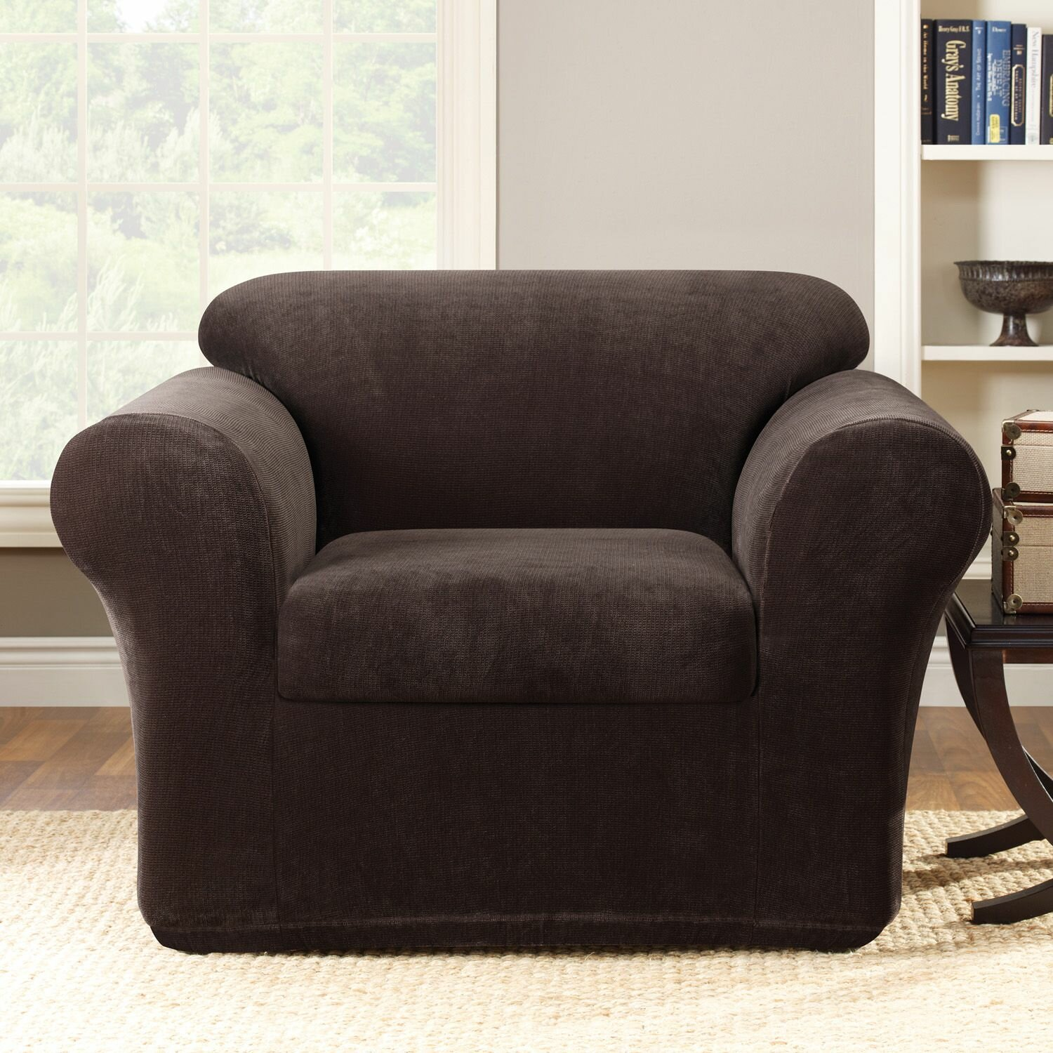Sure Fit Stretch Metro 2-Piece Armchair Slipcover & Reviews | Wayfair