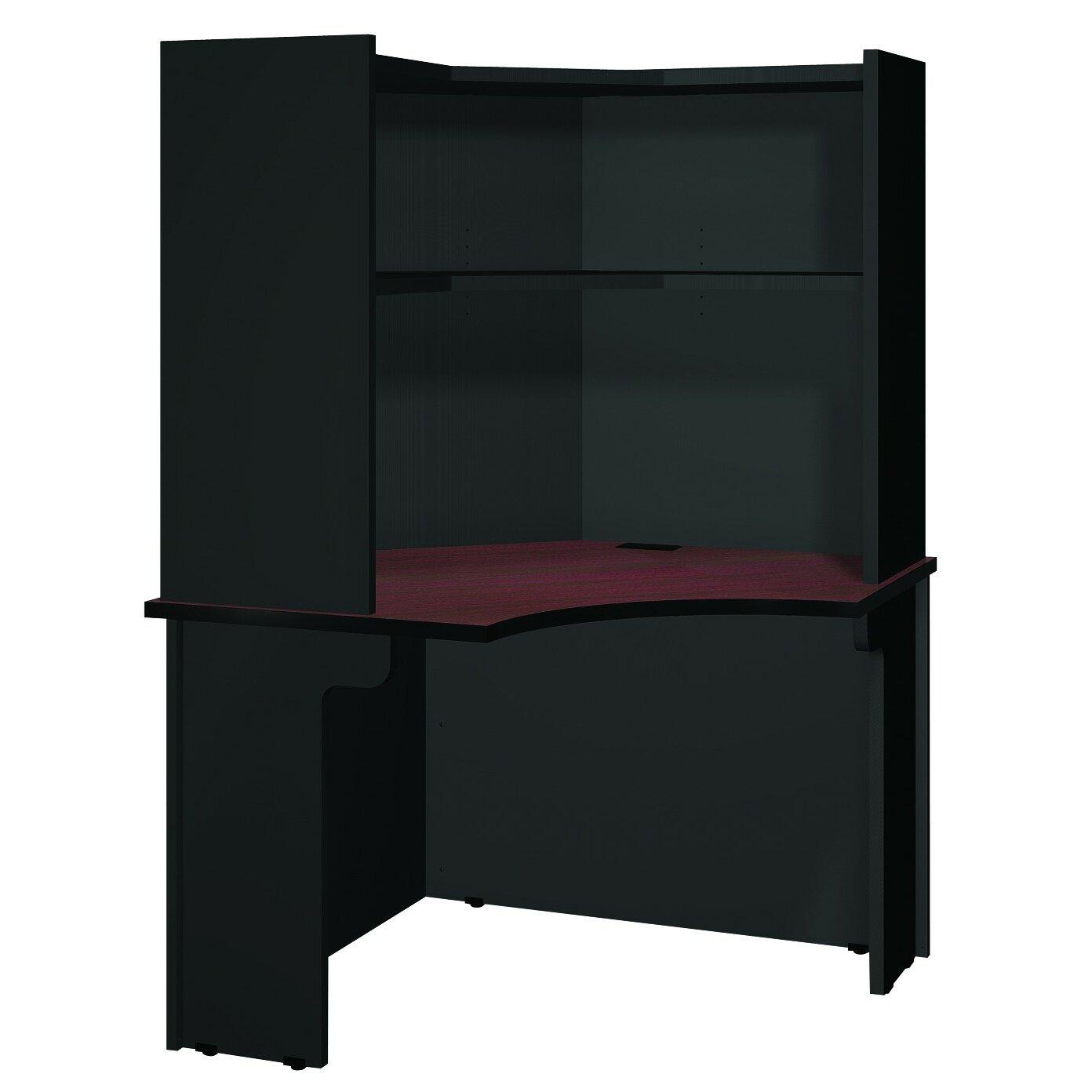 modular corner desk with hutch wayfair. Black Bedroom Furniture Sets. Home Design Ideas
