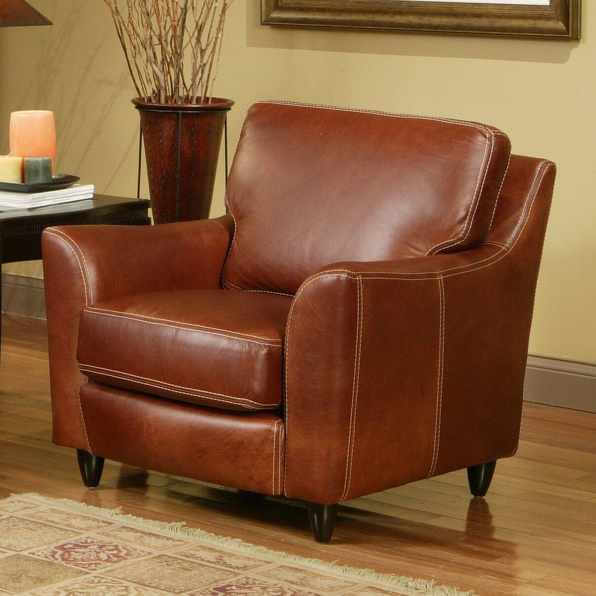 Omnia Furniture Great Texas Leather Chair Reviews Wayfair