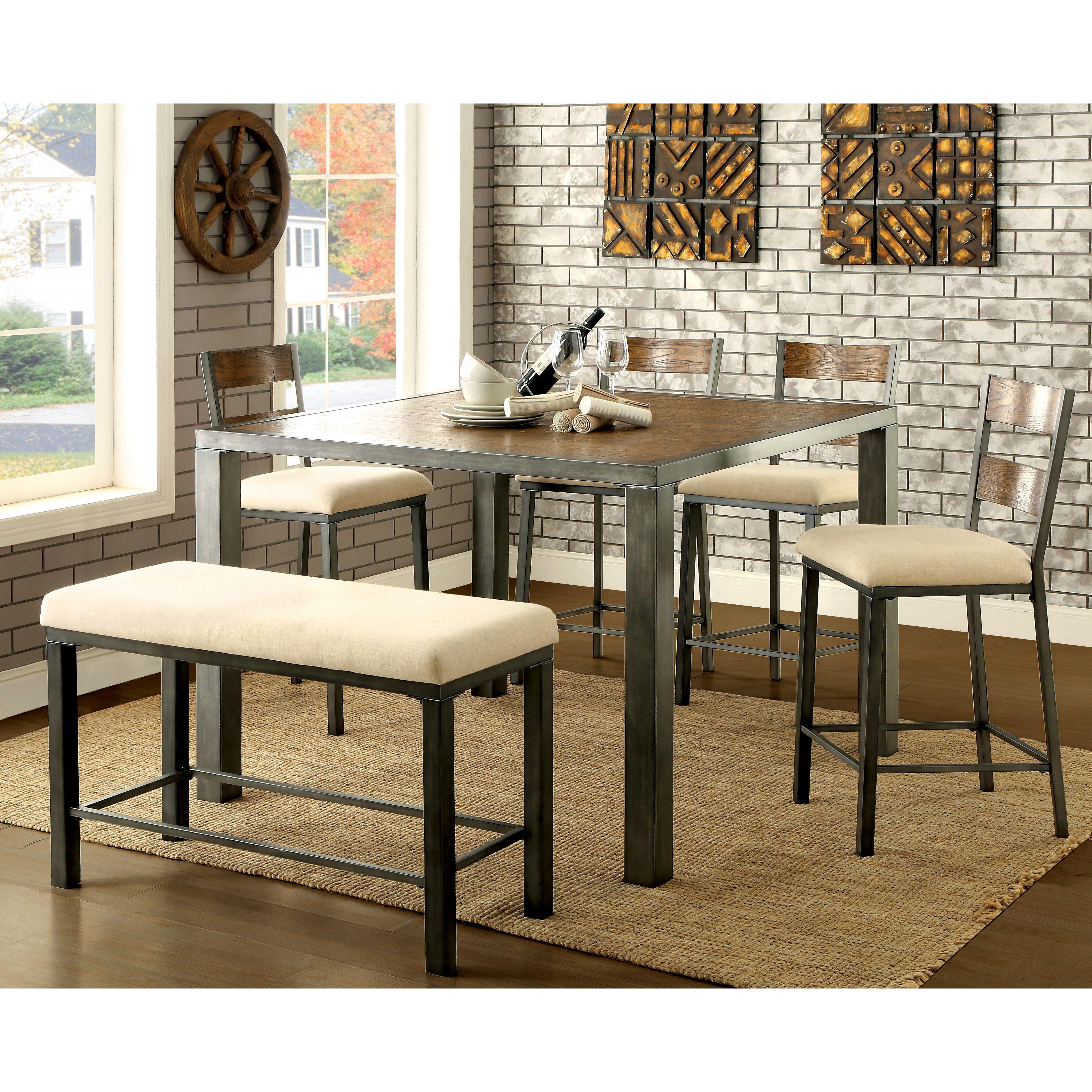 Hokku Designs Alleso Upholstered Kitchen Bench & Reviews