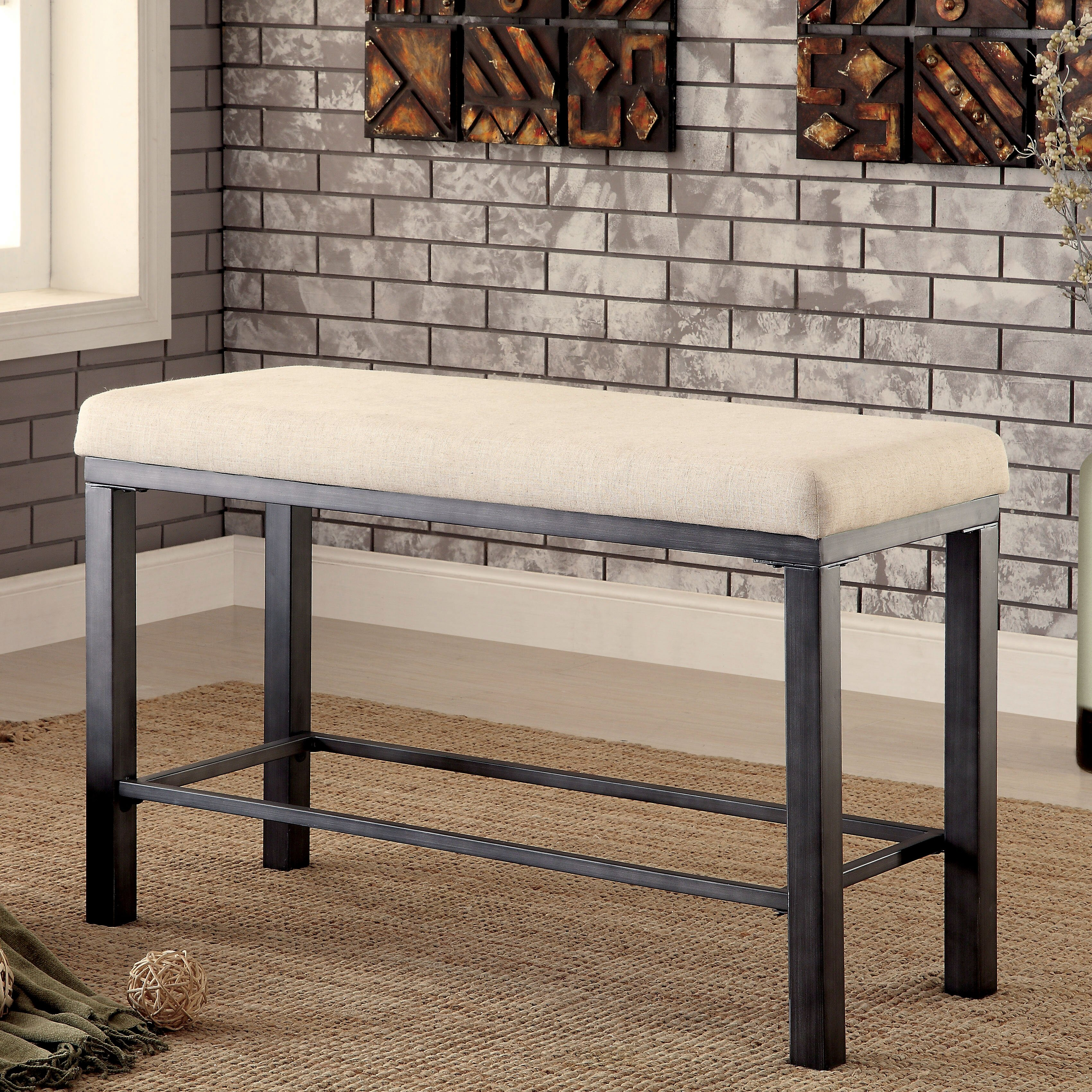 Hokku Designs Alleso Upholstered Kitchen Bench & Reviews