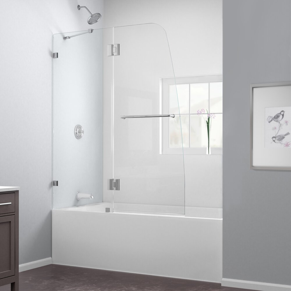 Dreamline Aqualux 58 Quot X 48 Quot Pivot Frameless Hinged Tub
