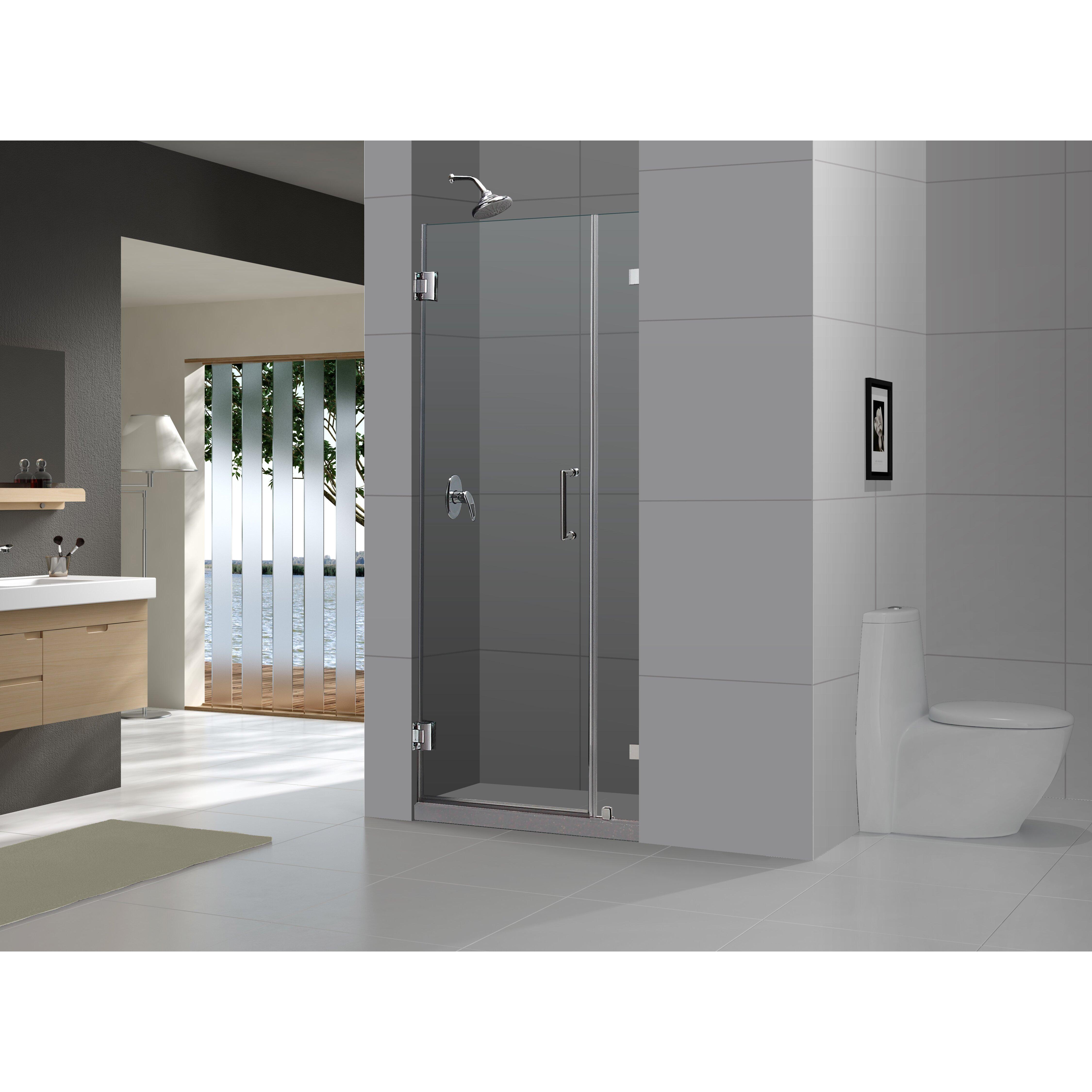 Dreamline Unidoor Lux 72 X 48 Pivot Frameless Hinged Shower