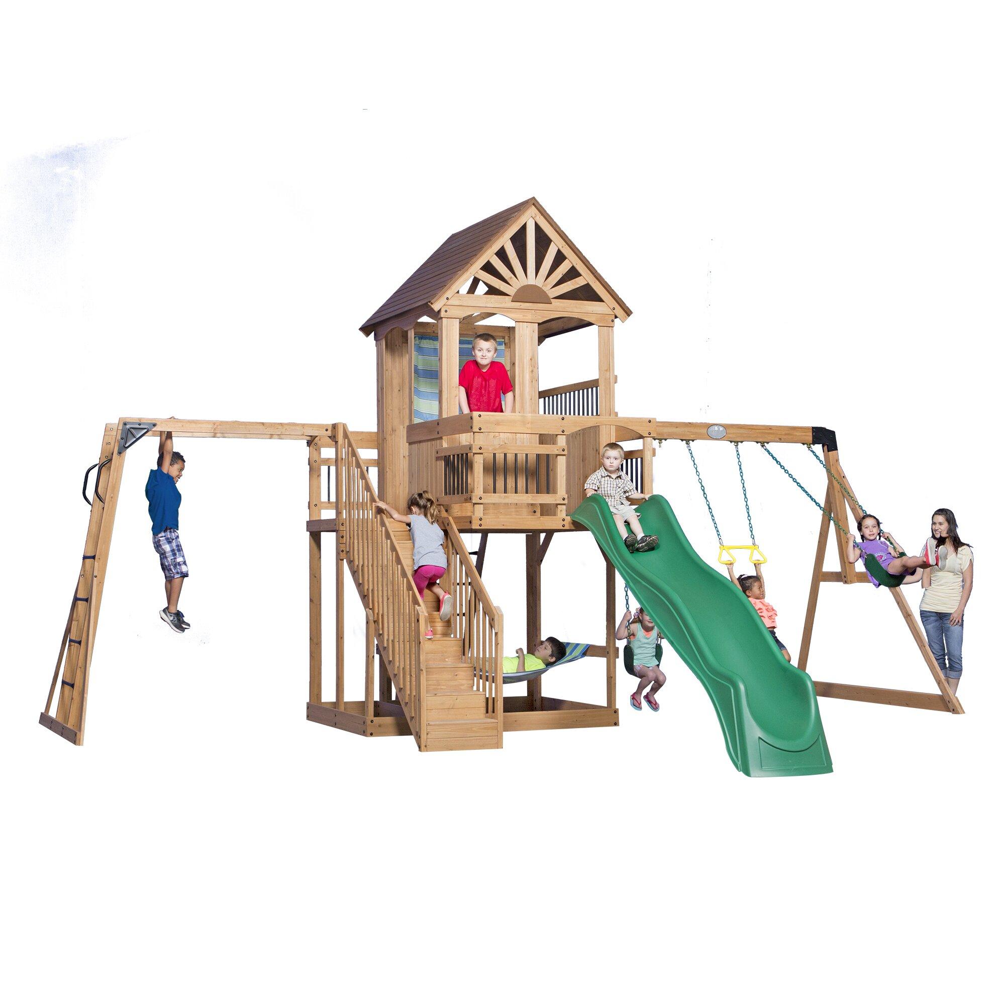 Backyard Discovery Oceanview All Cedar Swing Set & Reviews ...