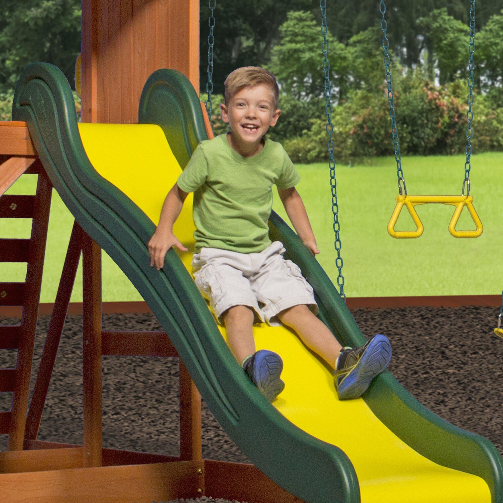 Backyard Discovery Weston All Cedar Swing Set & Reviews ...