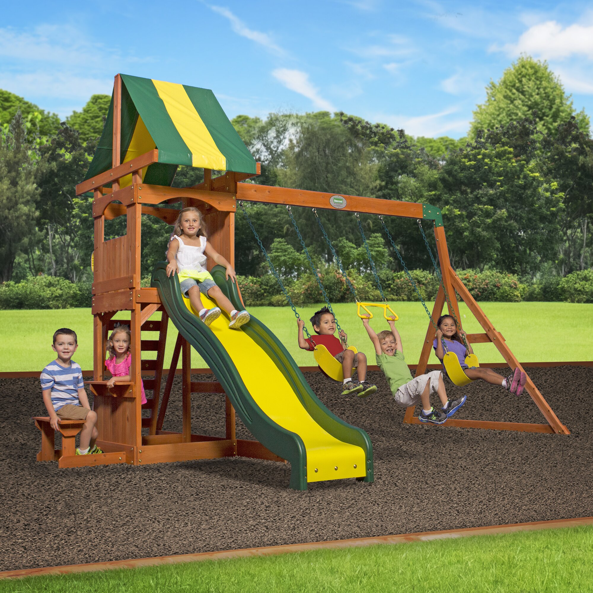 backyard discovery weston all cedar swing set reviews