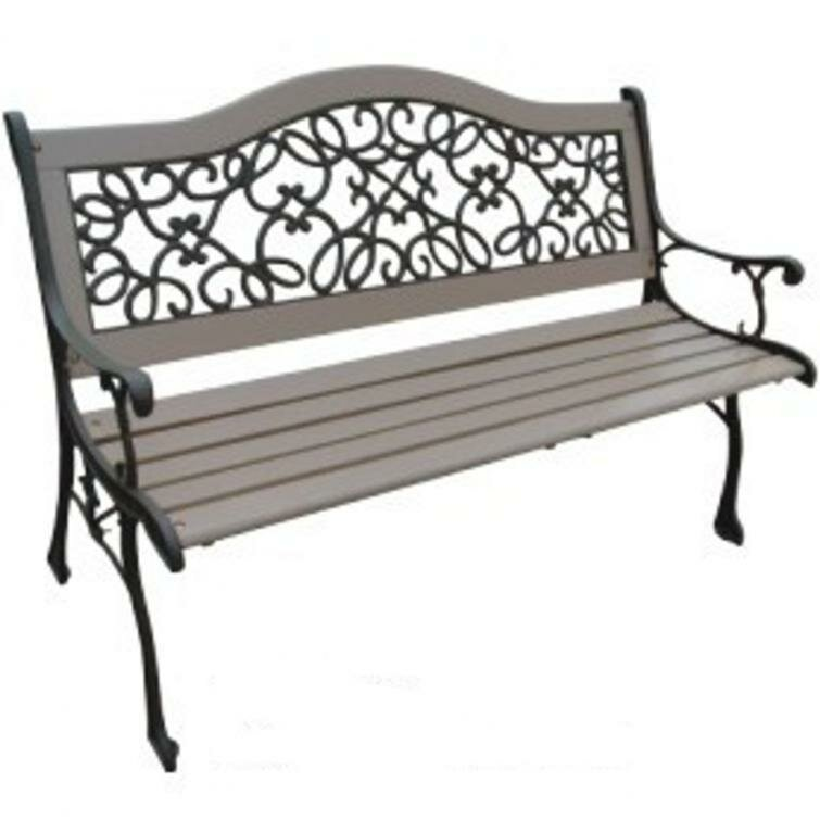 Dollar Wood And Cast Iron Park Bench Wayfair