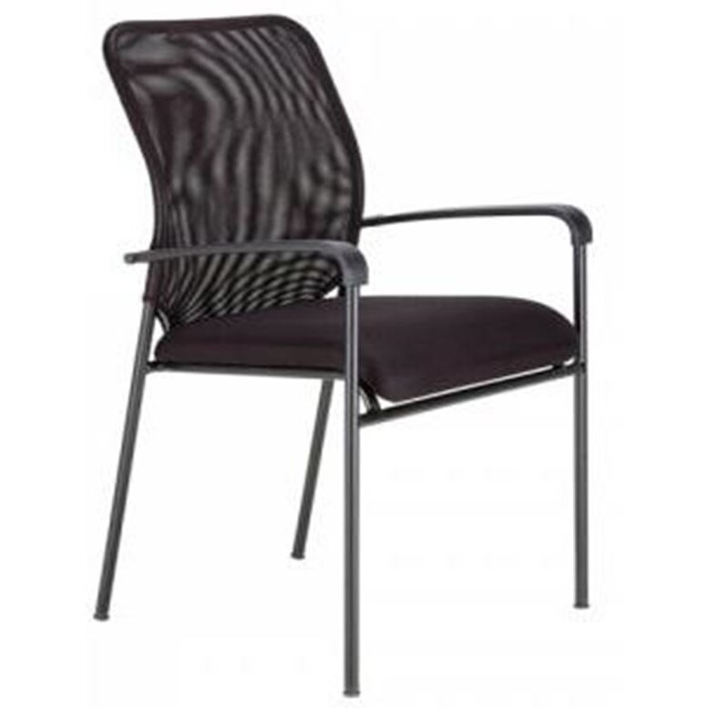 furniture modrest switch modern mid back stationary mesh guest chair