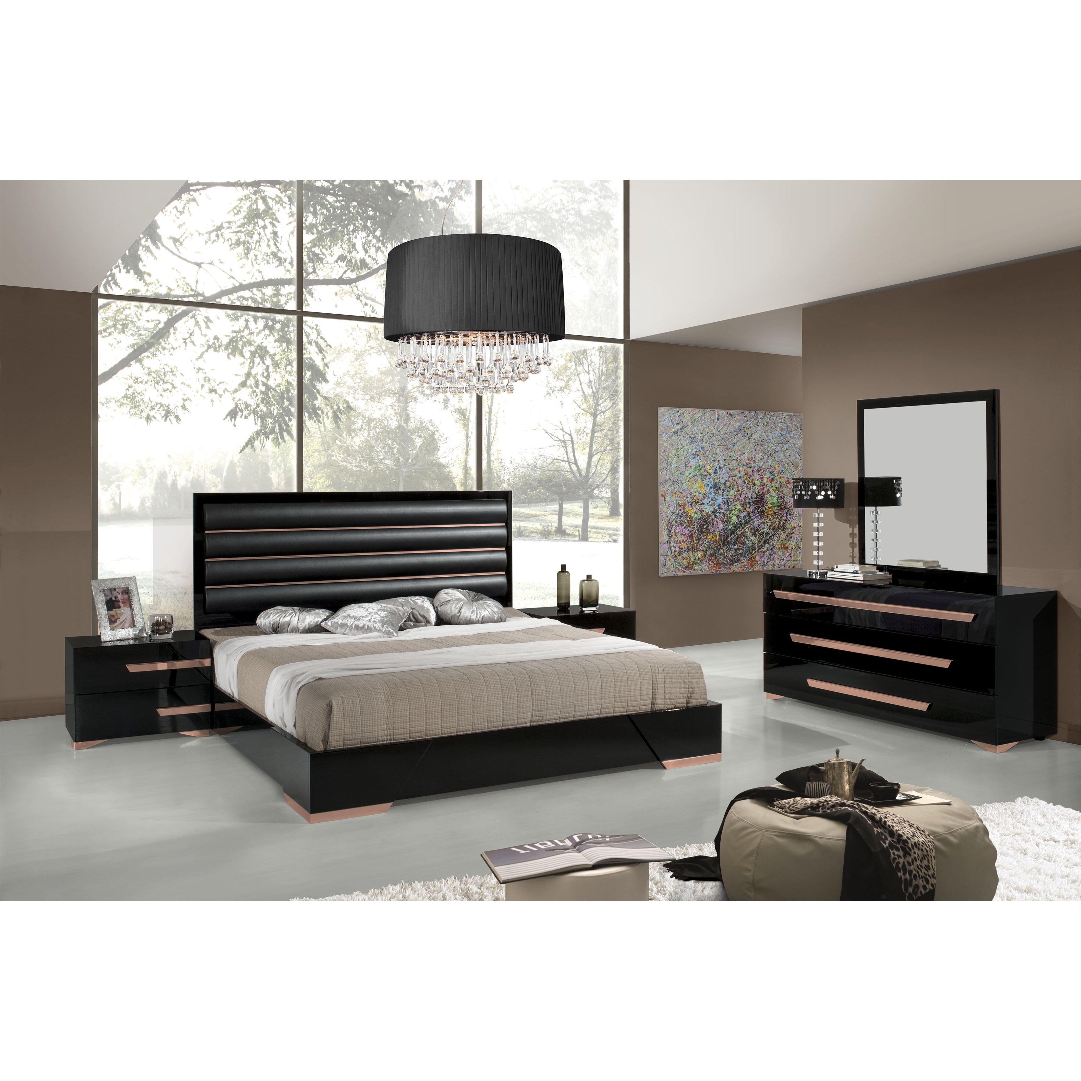 panel 5 piece bedroom set by vig furniture