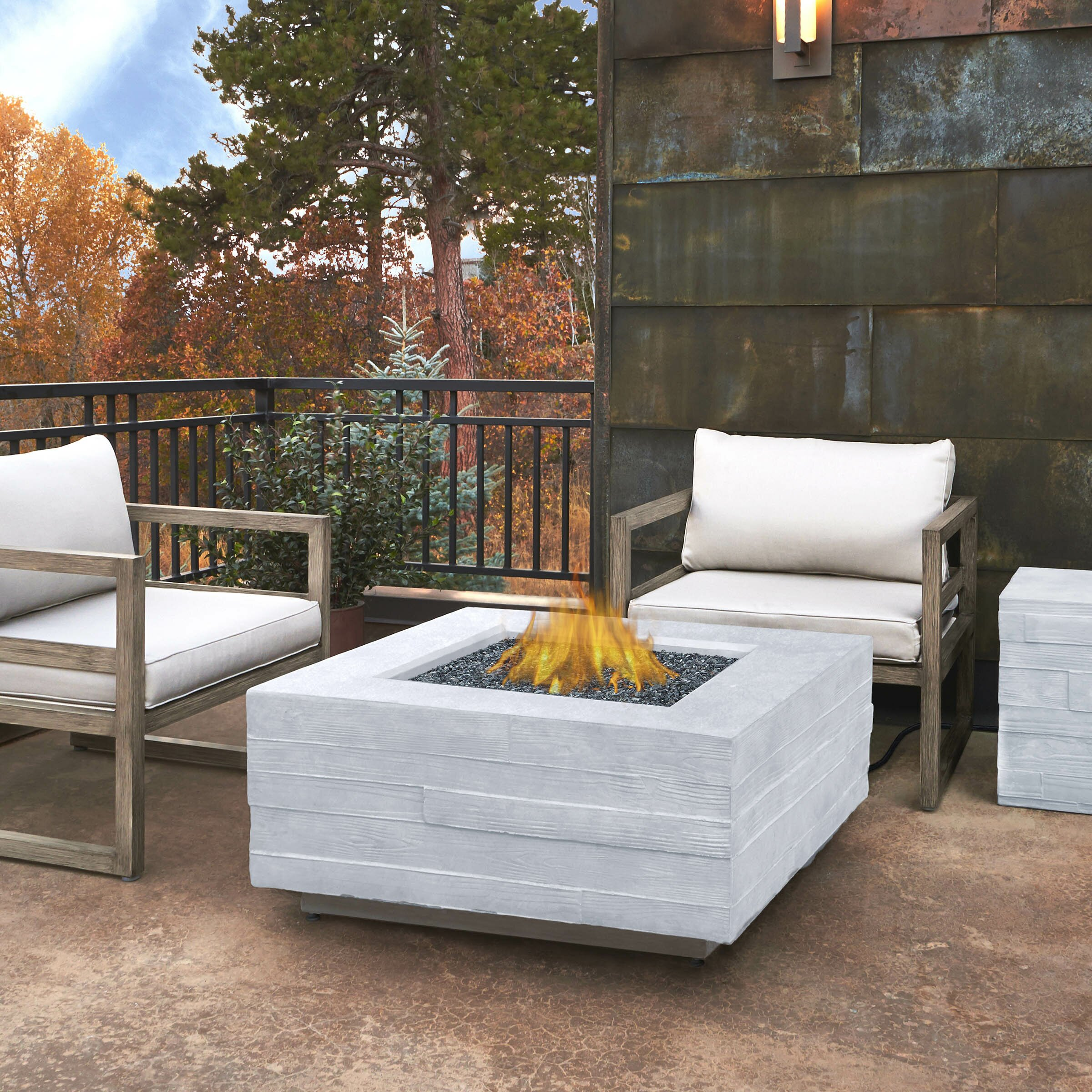 Board Form Propane Outdoor Fire Pit Table Wayfair