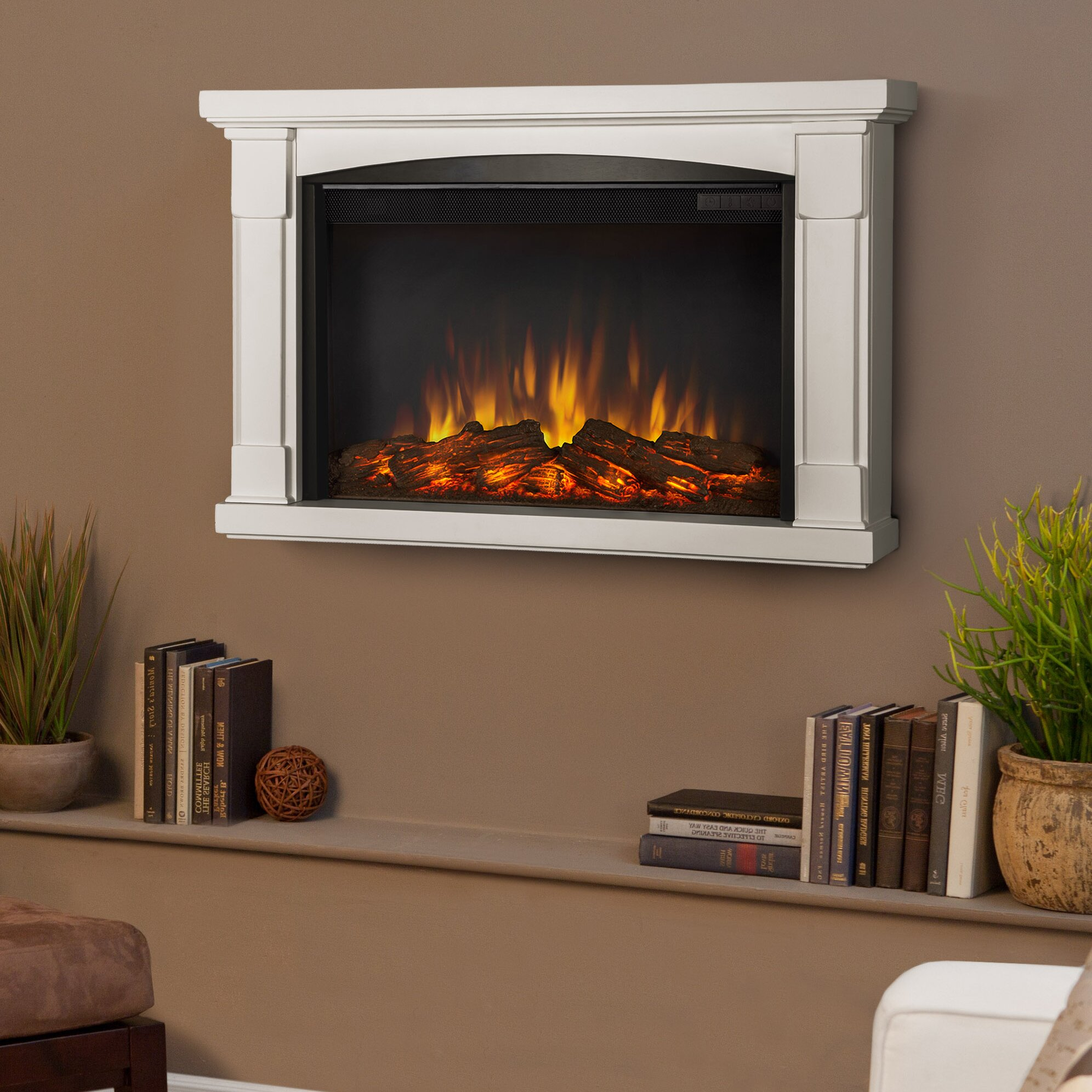 slim brighton wall mounted electric fireplace wayfair