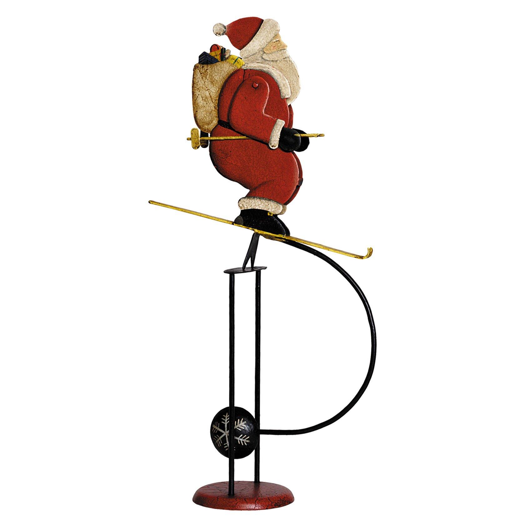 Skiing Santa Balance Toy Figurine