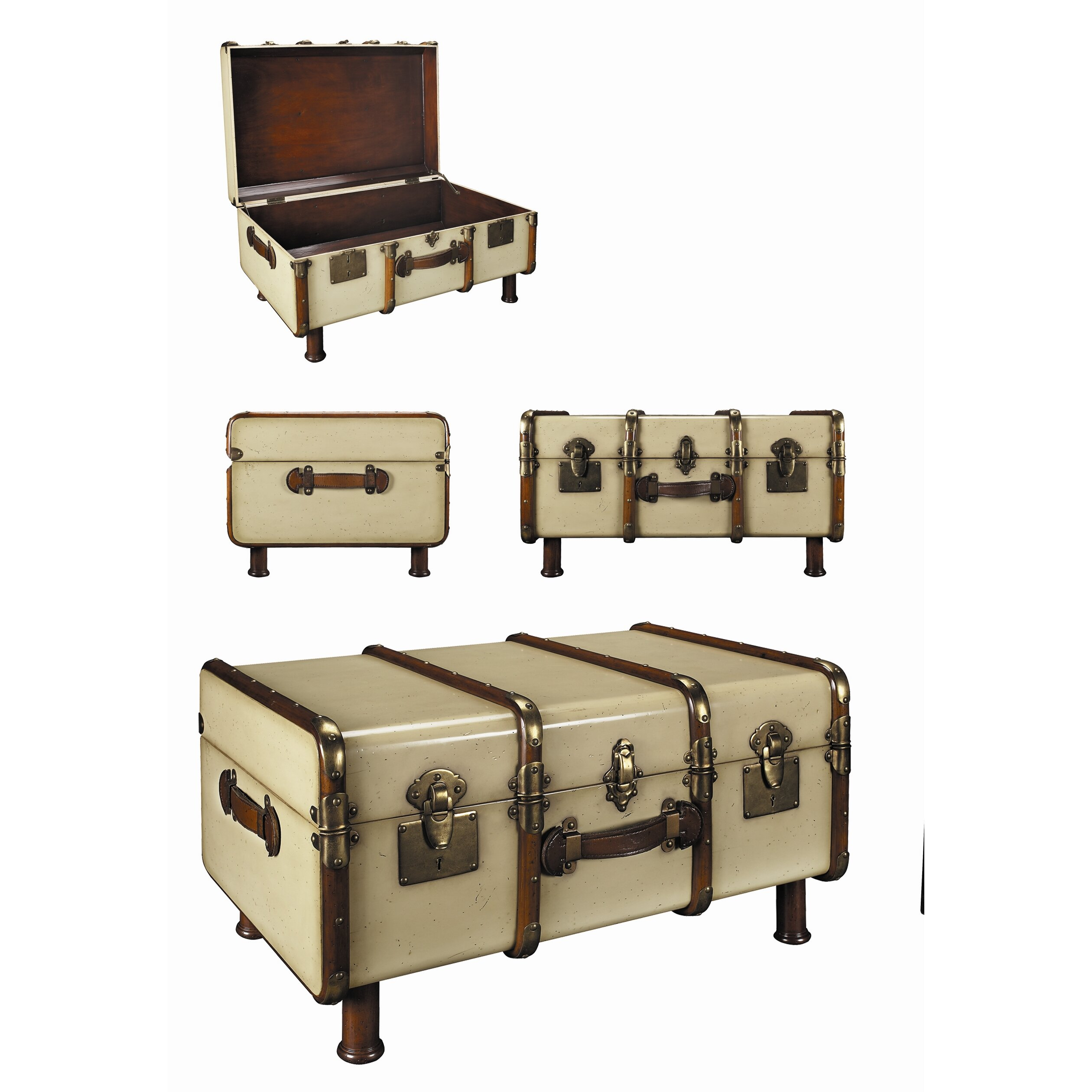 Beige Trunk Coffee Table: Authentic Models Stateroom Trunk & Reviews