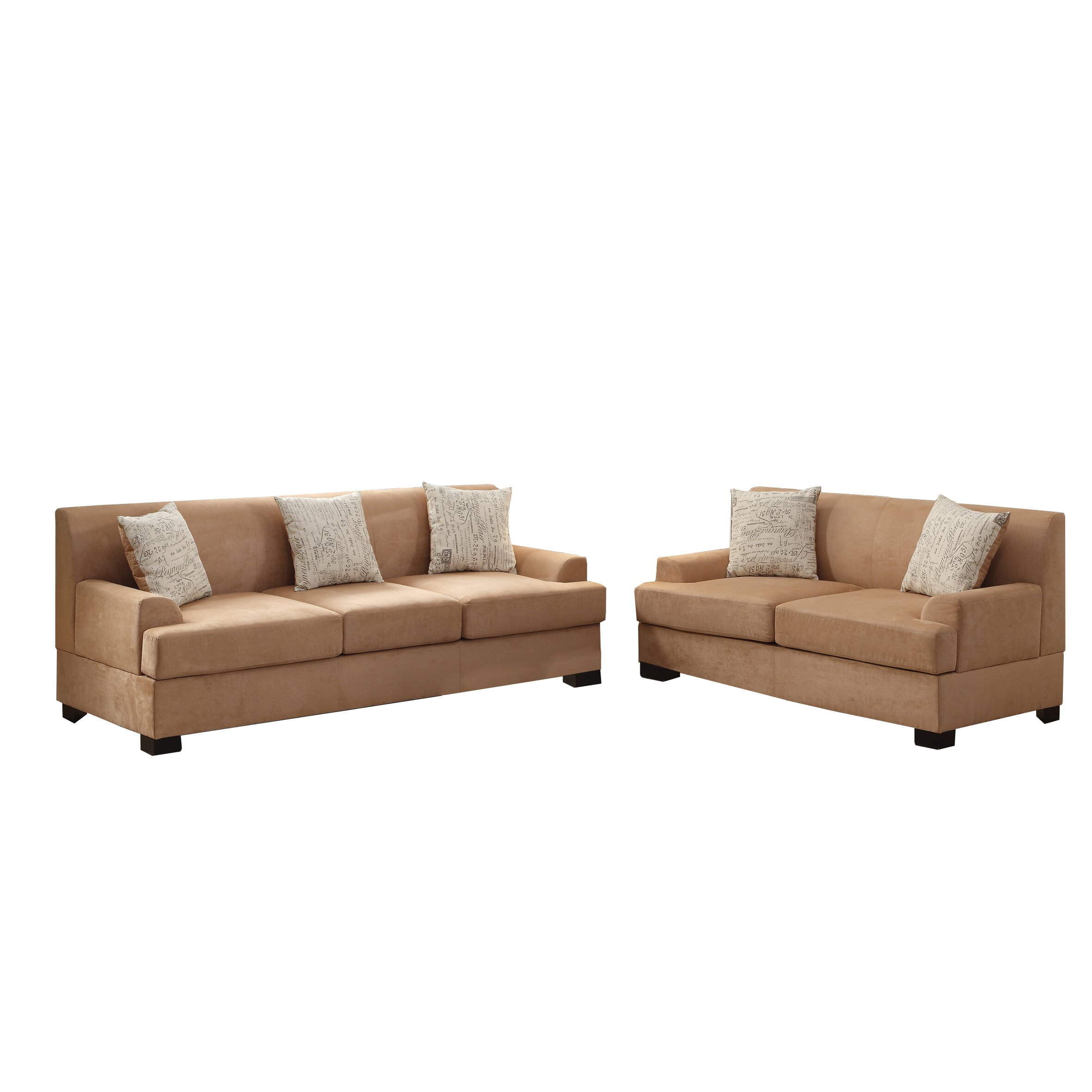 Poundex Bobkona Barrie Sofa And Loveseat Set Reviews Wayfair