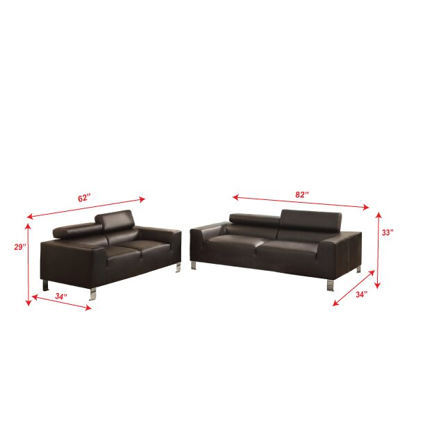 Poundex Bobkona Ellis Sofa And Loveseat Set Amp Reviews
