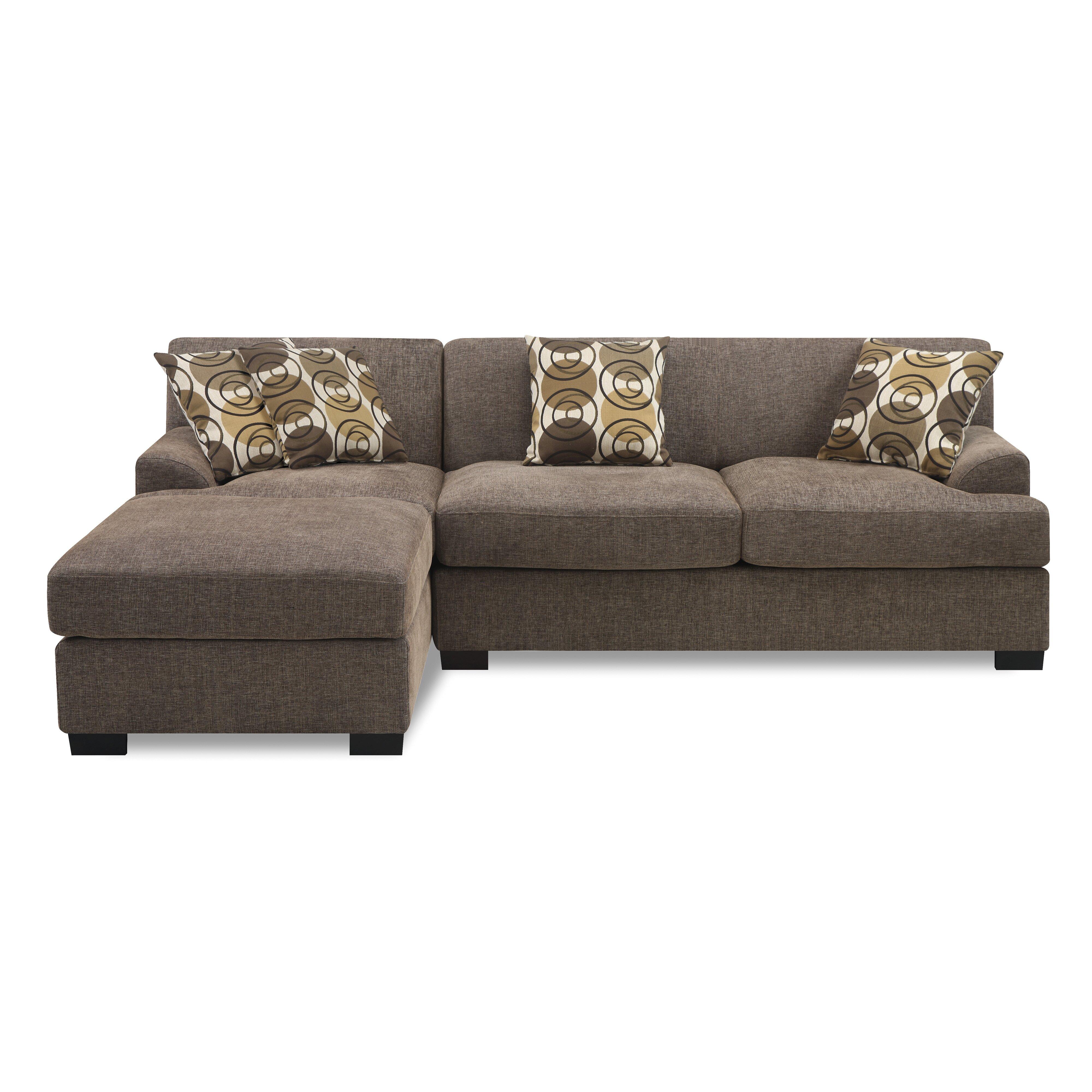 Sectional Sofa Sale Montreal: Poundex Montréal Reversible Chaise Sectional & Reviews