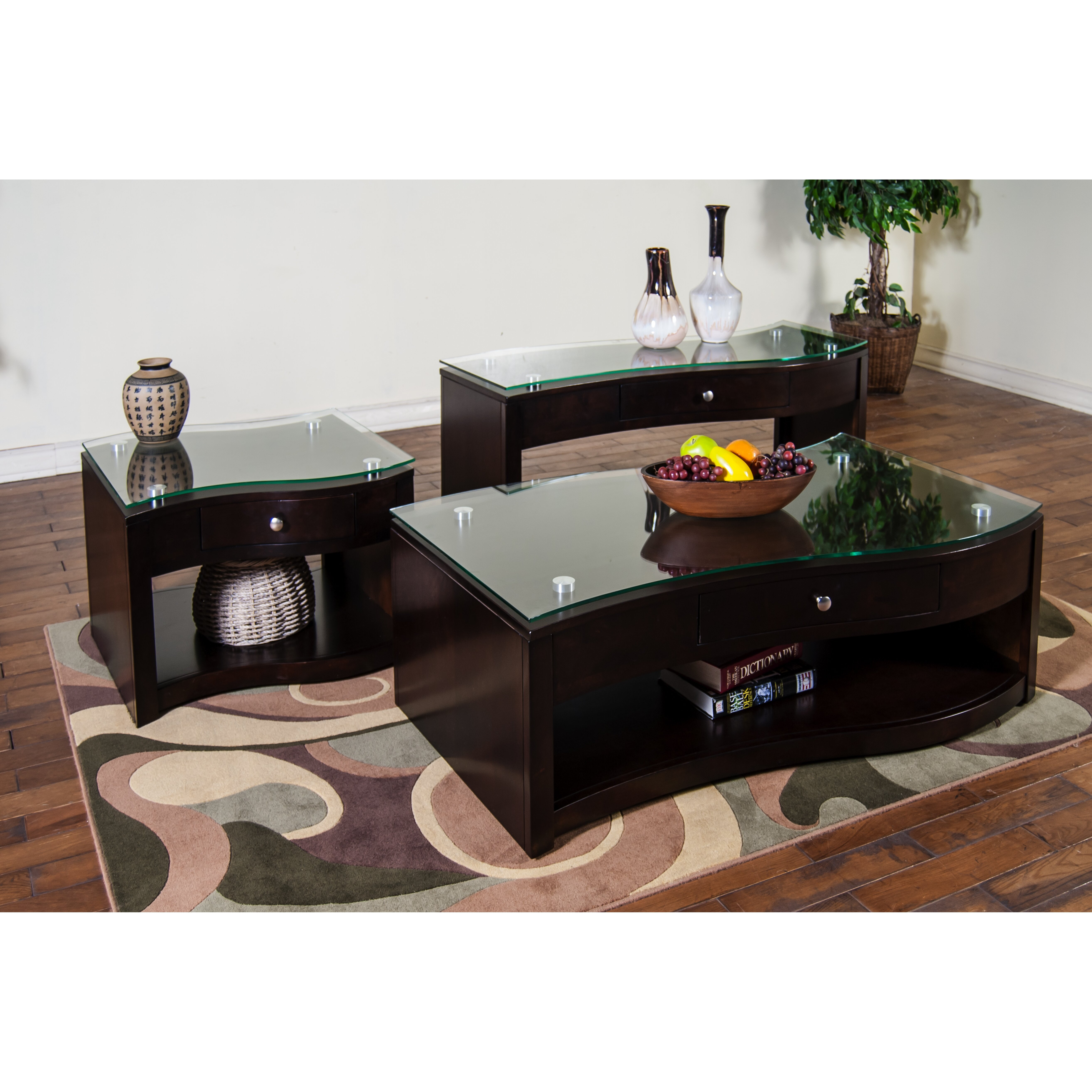 espresso living room table sets. Black Bedroom Furniture Sets. Home Design Ideas