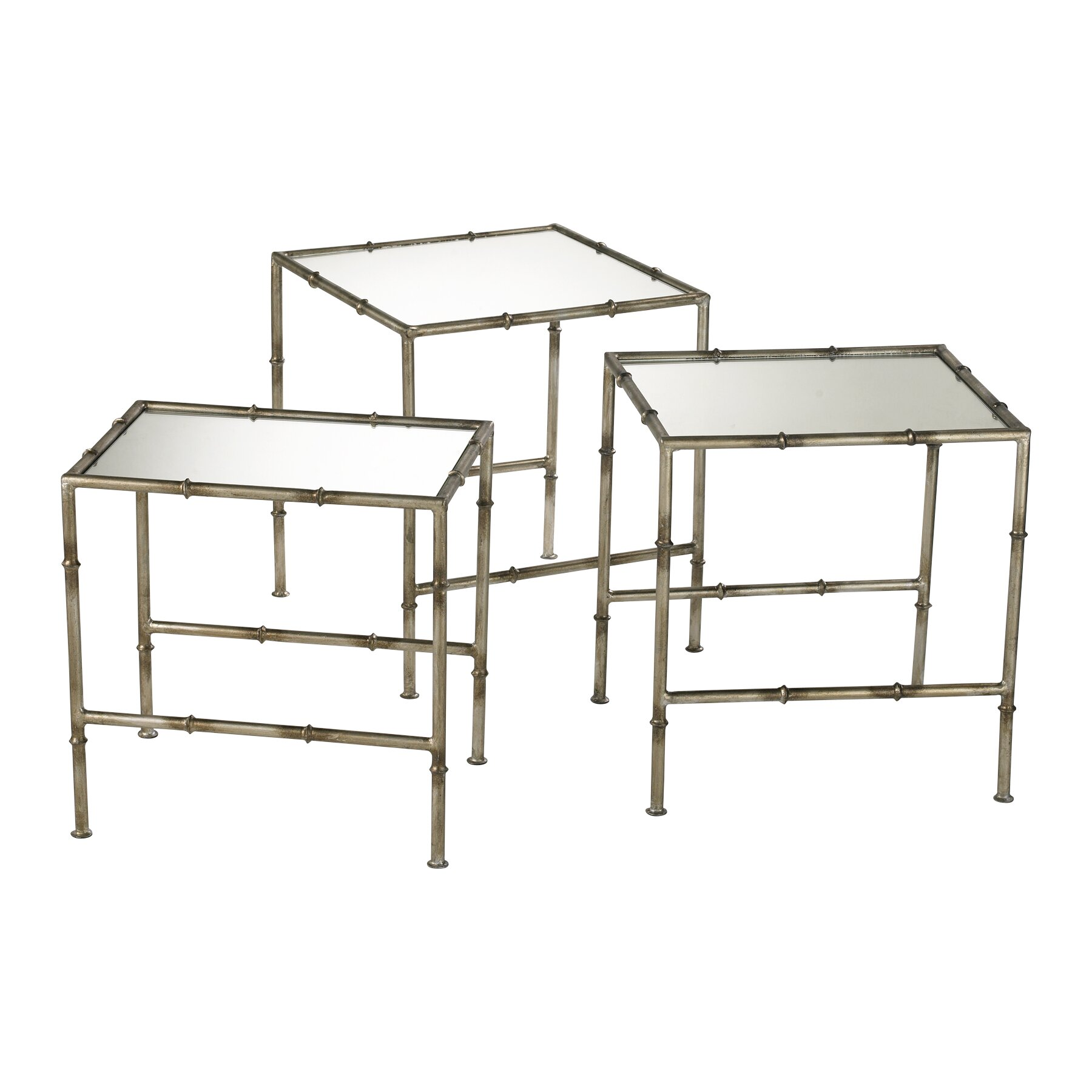 Cyan Design Bamboo 3 Piece Nesting Tables & Reviews Wayfair. Full resolution  photo, nominally Width 1800 Height 1800 pixels, photo with #5B503C.