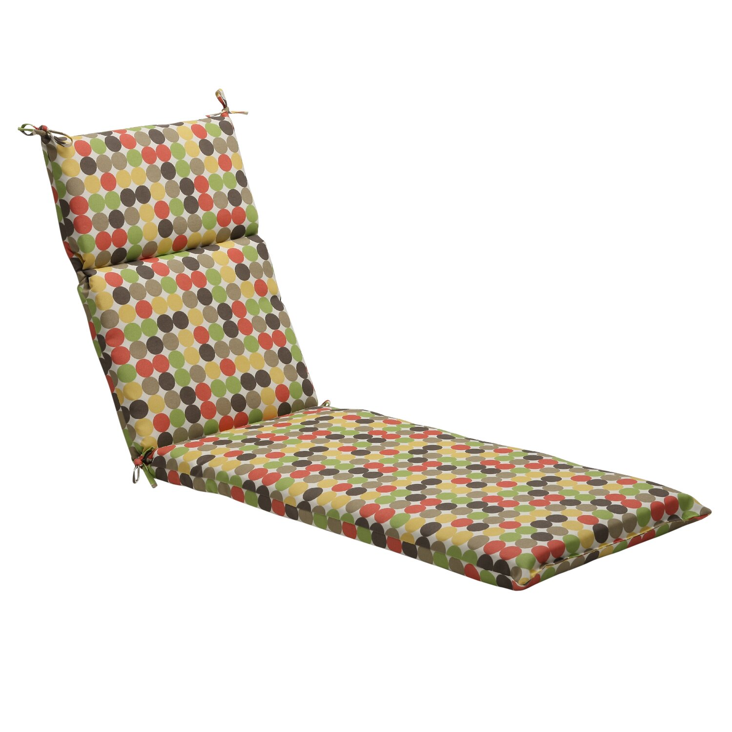 Pillow Perfect Polka Dots Outdoor Chaise Lounge Cushion