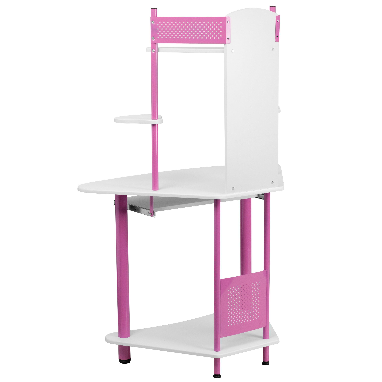 Flash Furniture Corner Computer Desk With Hutch Amp Reviews