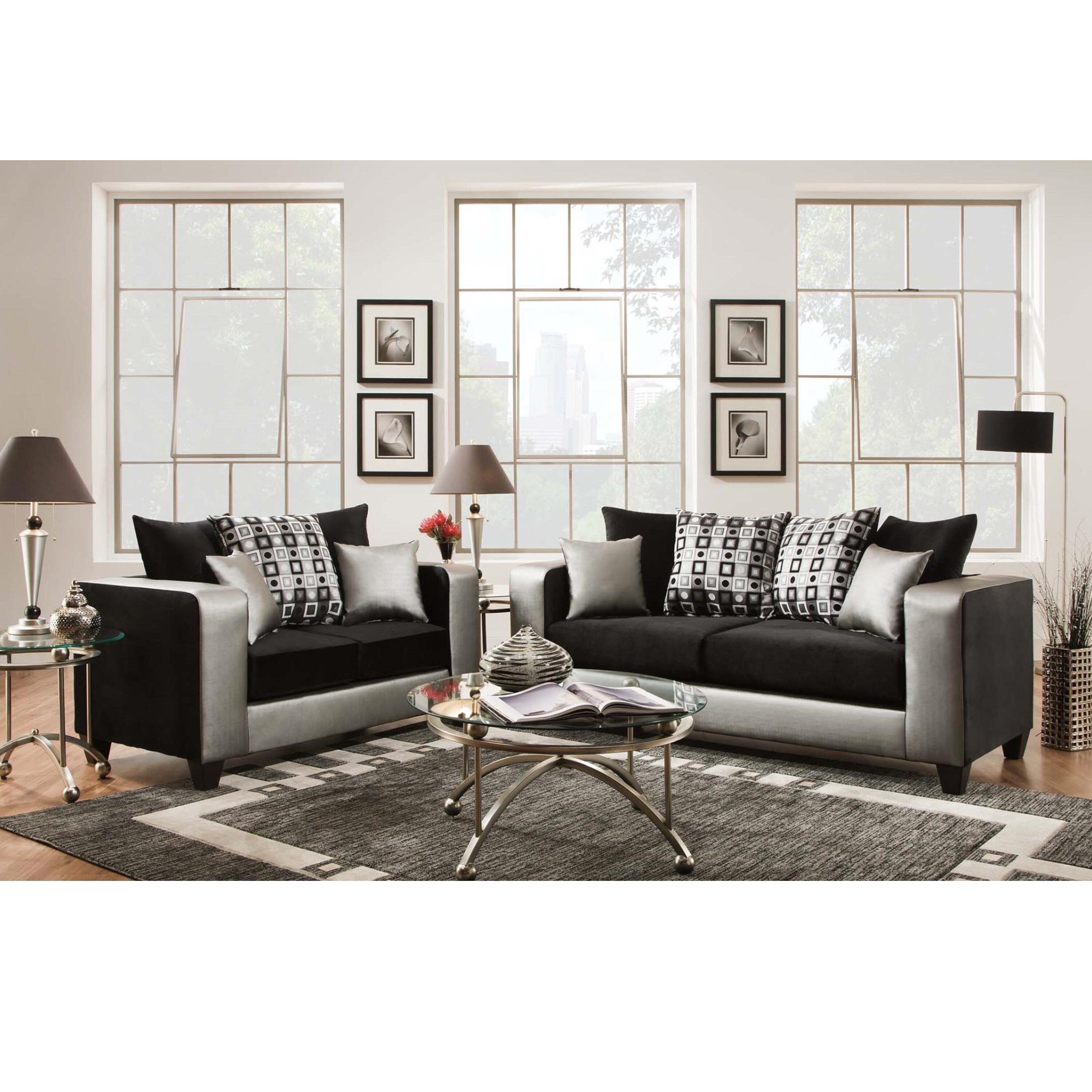 riverstone implosion living room set by flash furniture