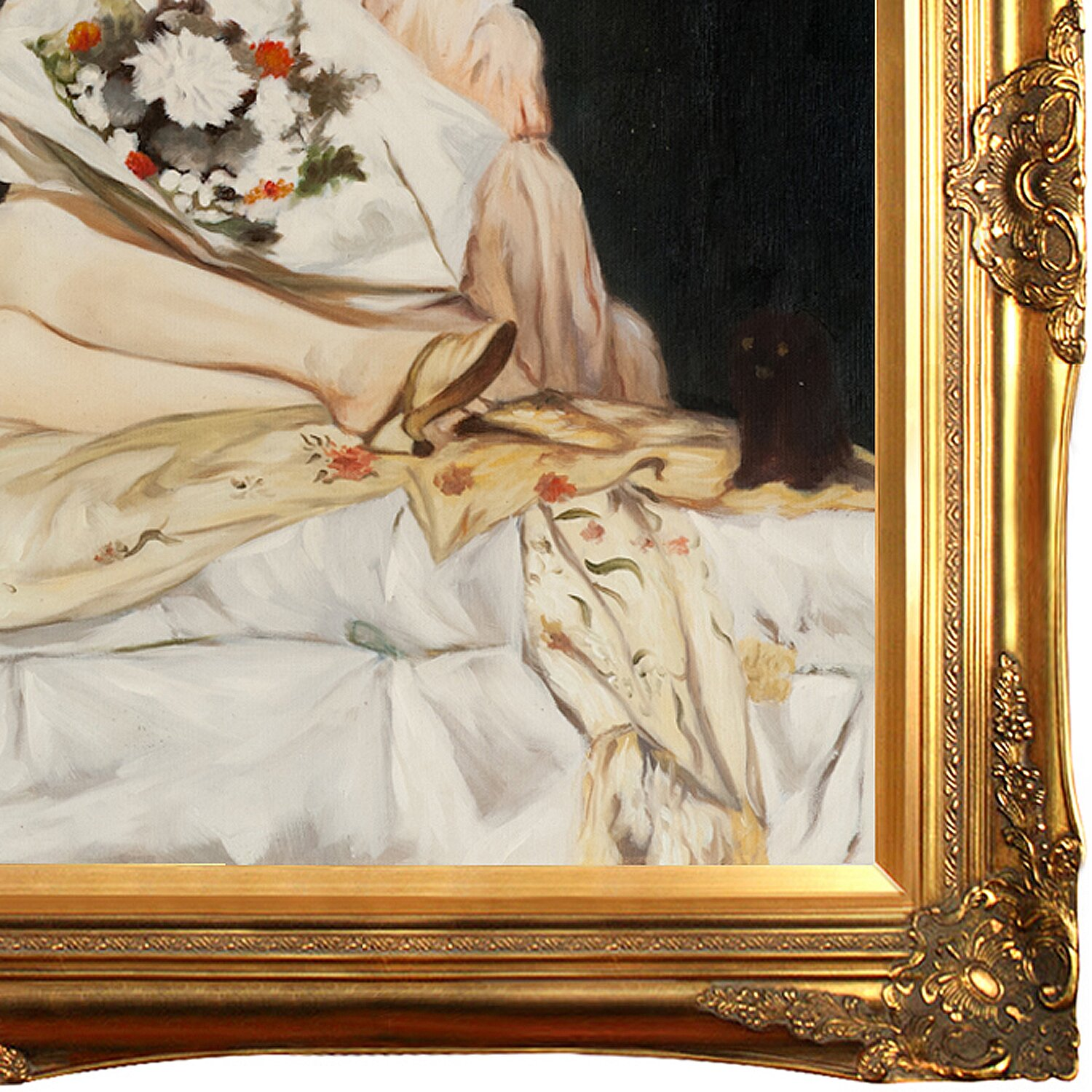 Goya Manet Olympia Olympia By Manet Framed Hand Painted Oil On