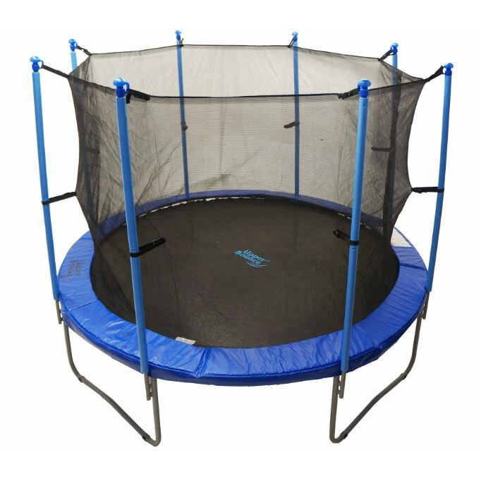 Upper Bounce 14' Round Trampoline Net Using 8 Poles Or 4