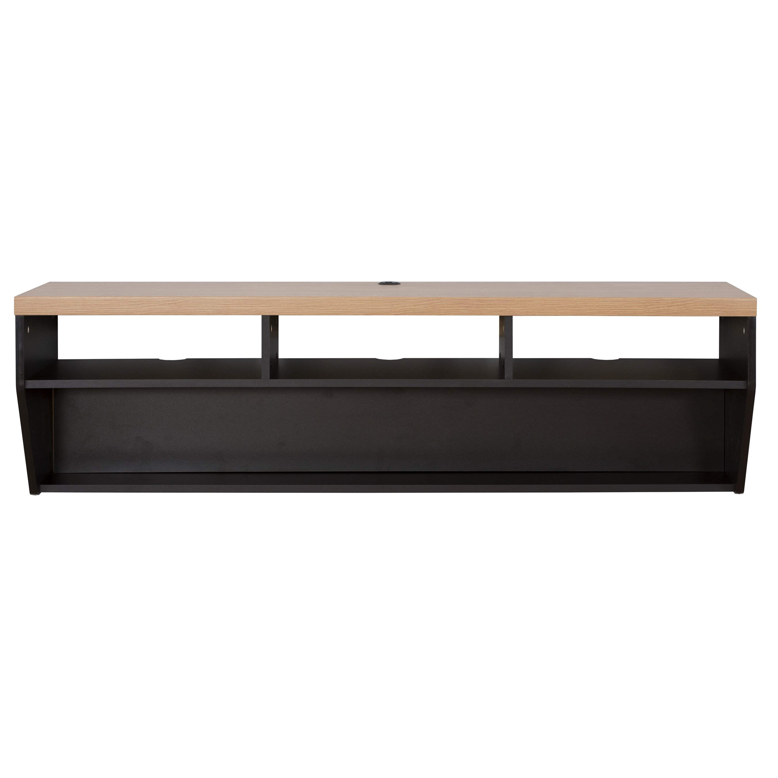 Martin Home Furnishings 60 Angled Sides Wall Mounted TV Component Shelf