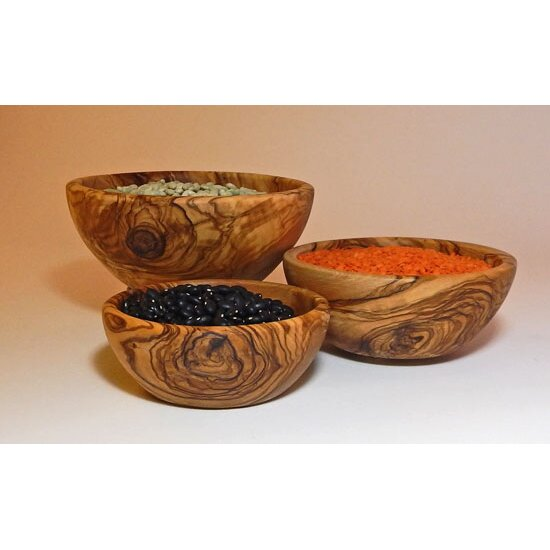 Olive Wood Candy Nut Bowl 3 Piece Set Wayfair