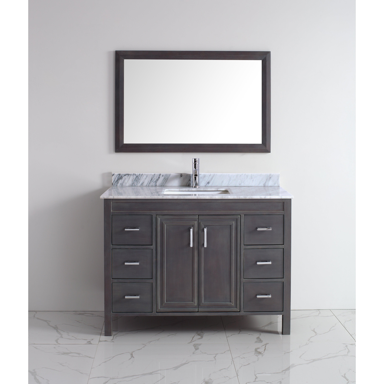 coraline 48 single bathroom vanity set with mirror wayfair