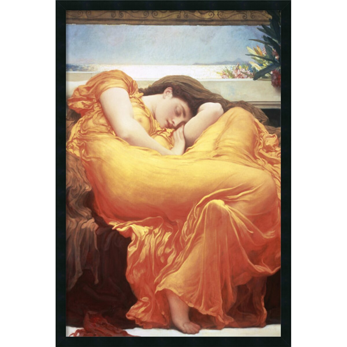 Amanti Art Flaming June By Lord Frederic Leighton Framed