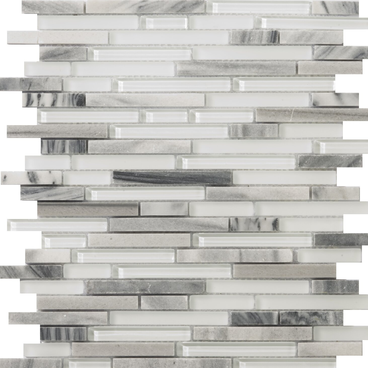 emser tile lucente random sized glass and stone mosaic