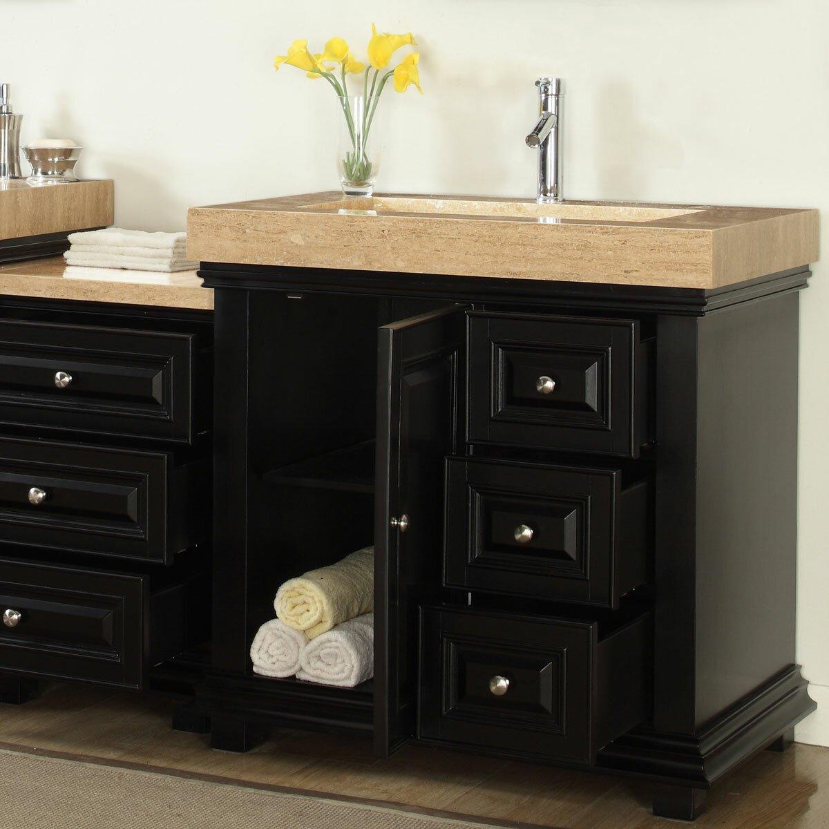 Silkroad Exclusive 90 Double Sink Modern Bathroom Vanity Set Reviews Wayfair