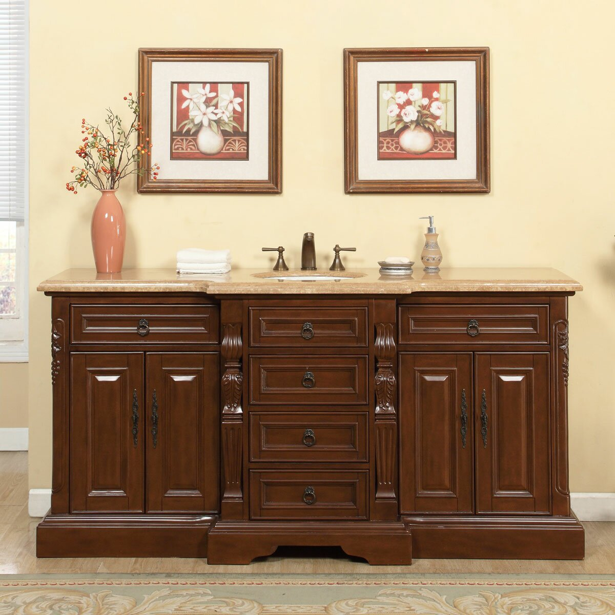 Silkroad Exclusive 72 Single Sink Bathroom Vanity Set Reviews Wayfair
