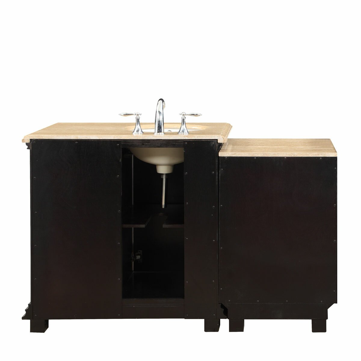 56 Single Bathroom Modular Vanity Set With Sink On Left Side Wayfair