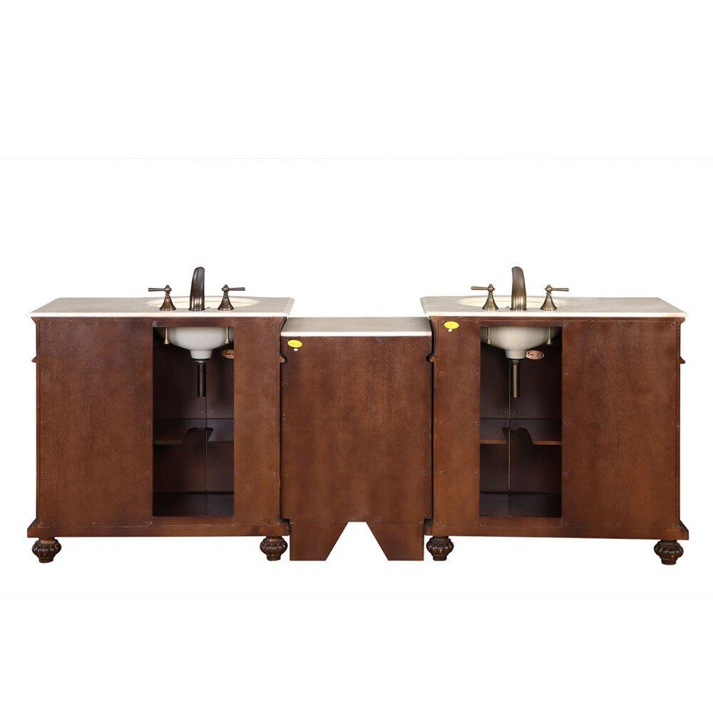 silkroad exclusive butler 90 double bathroom vanity set