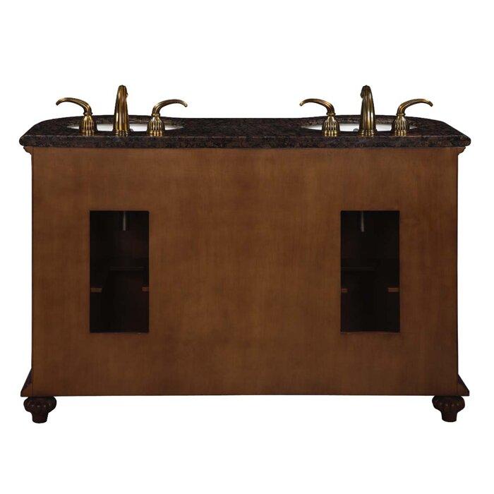 silkroad exclusive alexandra 54 double bathroom vanity set reviews wayfair. Black Bedroom Furniture Sets. Home Design Ideas