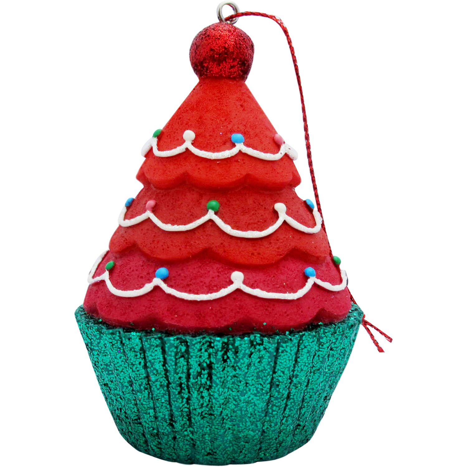 Tree Top Cupcake Christmas Ornament