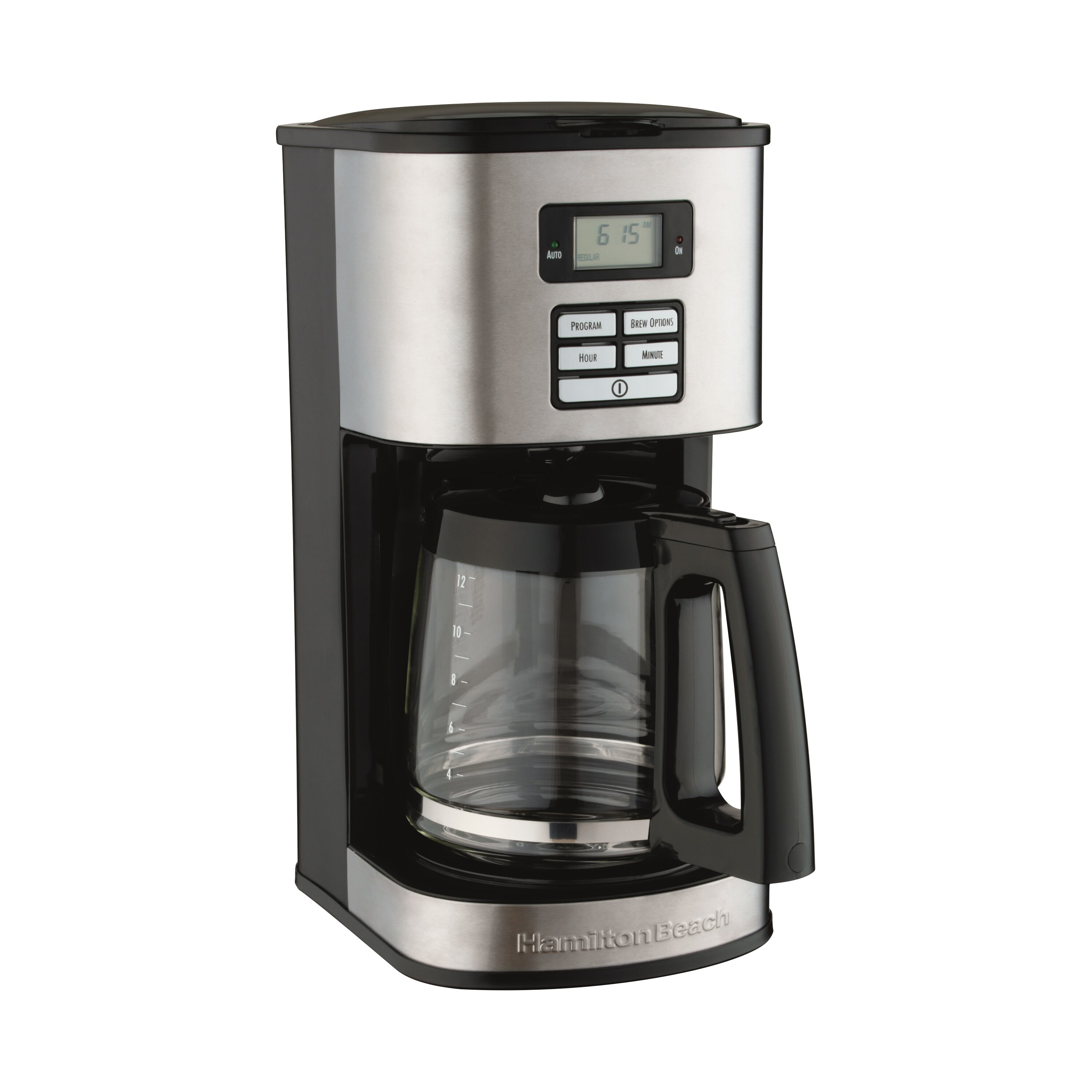 hamilton beach 12 cup stainless steel coffee maker reviews wayfair. Black Bedroom Furniture Sets. Home Design Ideas