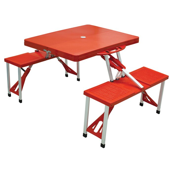 Picnic time outdoor furniture picnic table reviews wayfair for 10 person picnic table