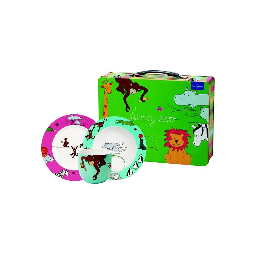 3 tlg kindergeschirr funny zoo aus porzellan von villeroy boch. Black Bedroom Furniture Sets. Home Design Ideas