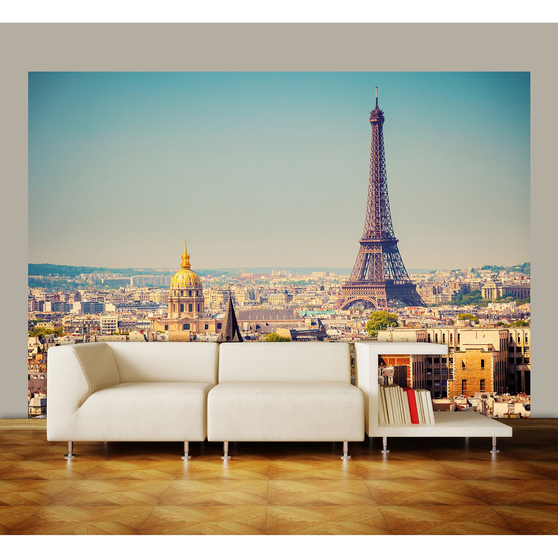 ideal decor paris wall mural wayfair eboy s paris themed pixel art wall mural milton amp king