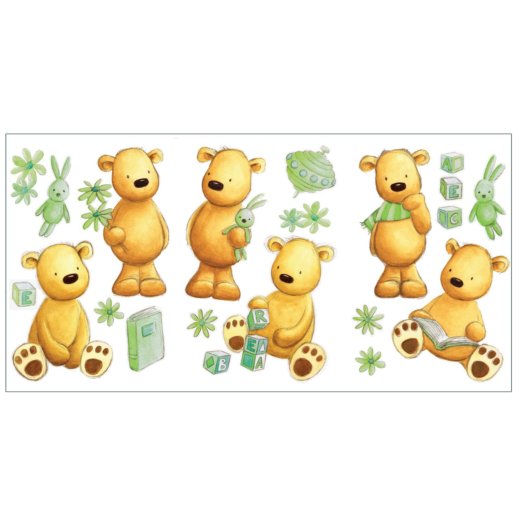 fun4walls teddy bear wall decal wayfair bear reading corner wall stickers