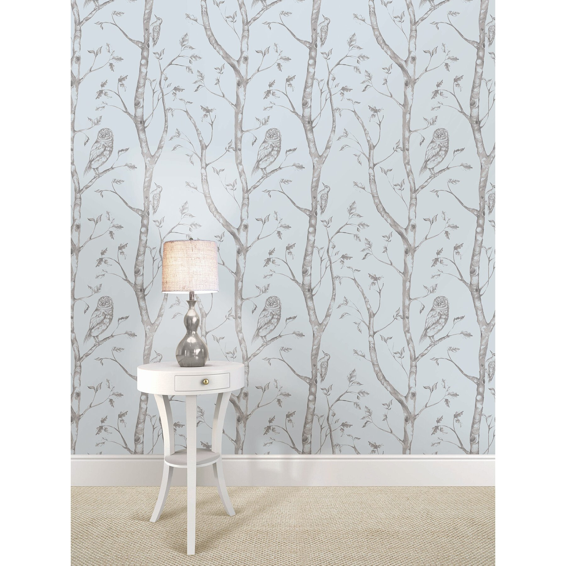 wallpops blue woods peel and stick wallpaper reviews wayfair