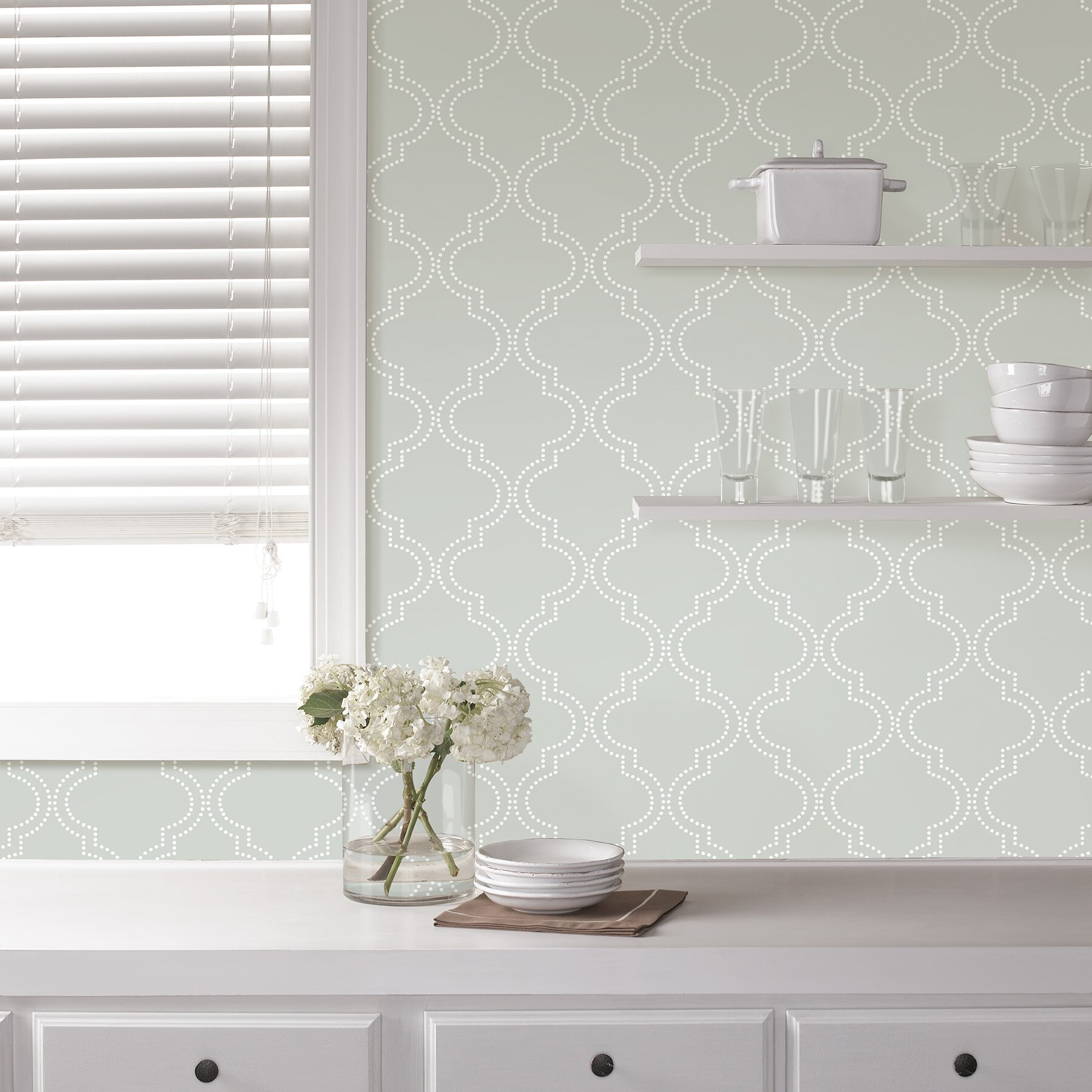Wallpops grey quatrefoil peel and stick wallpaper - Best peel and stick wallpaper ...