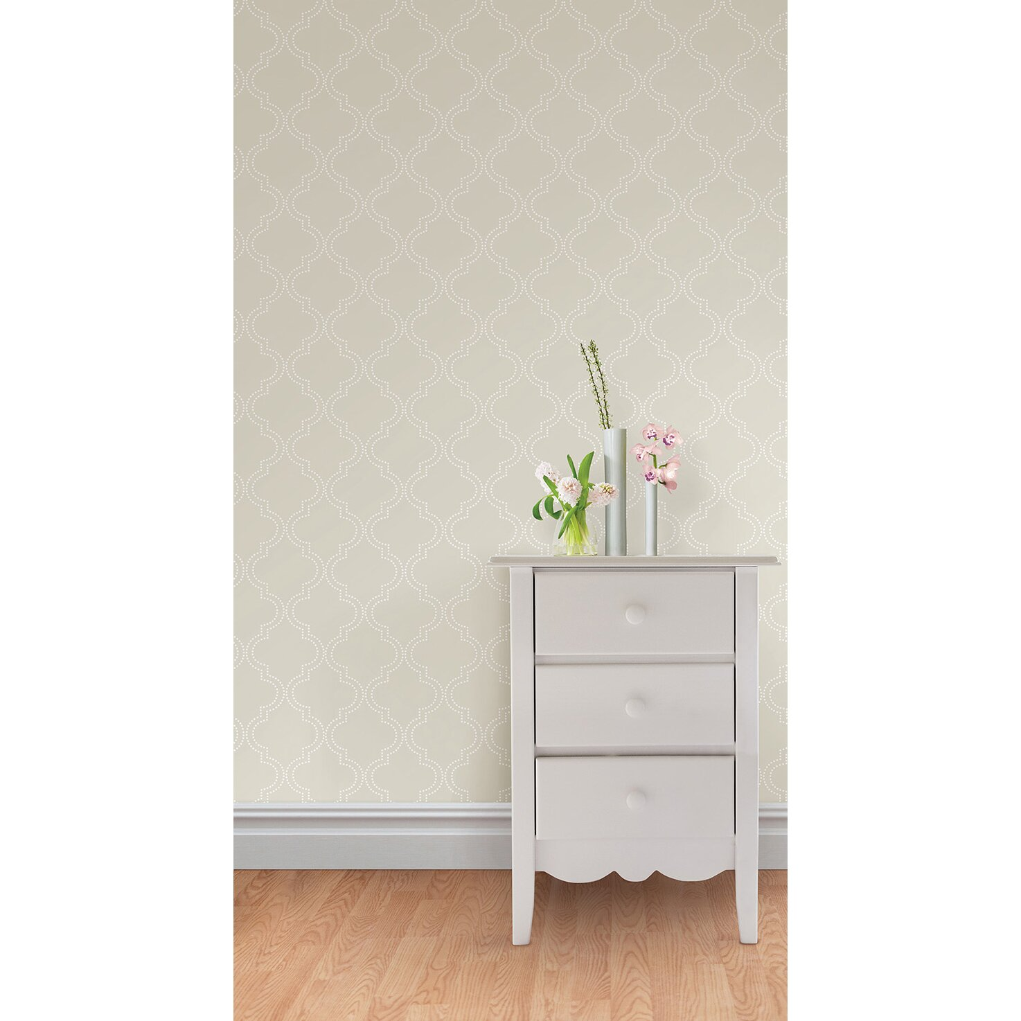 wallpops quatrefoil peel and stick wallpaper reviews wayfair
