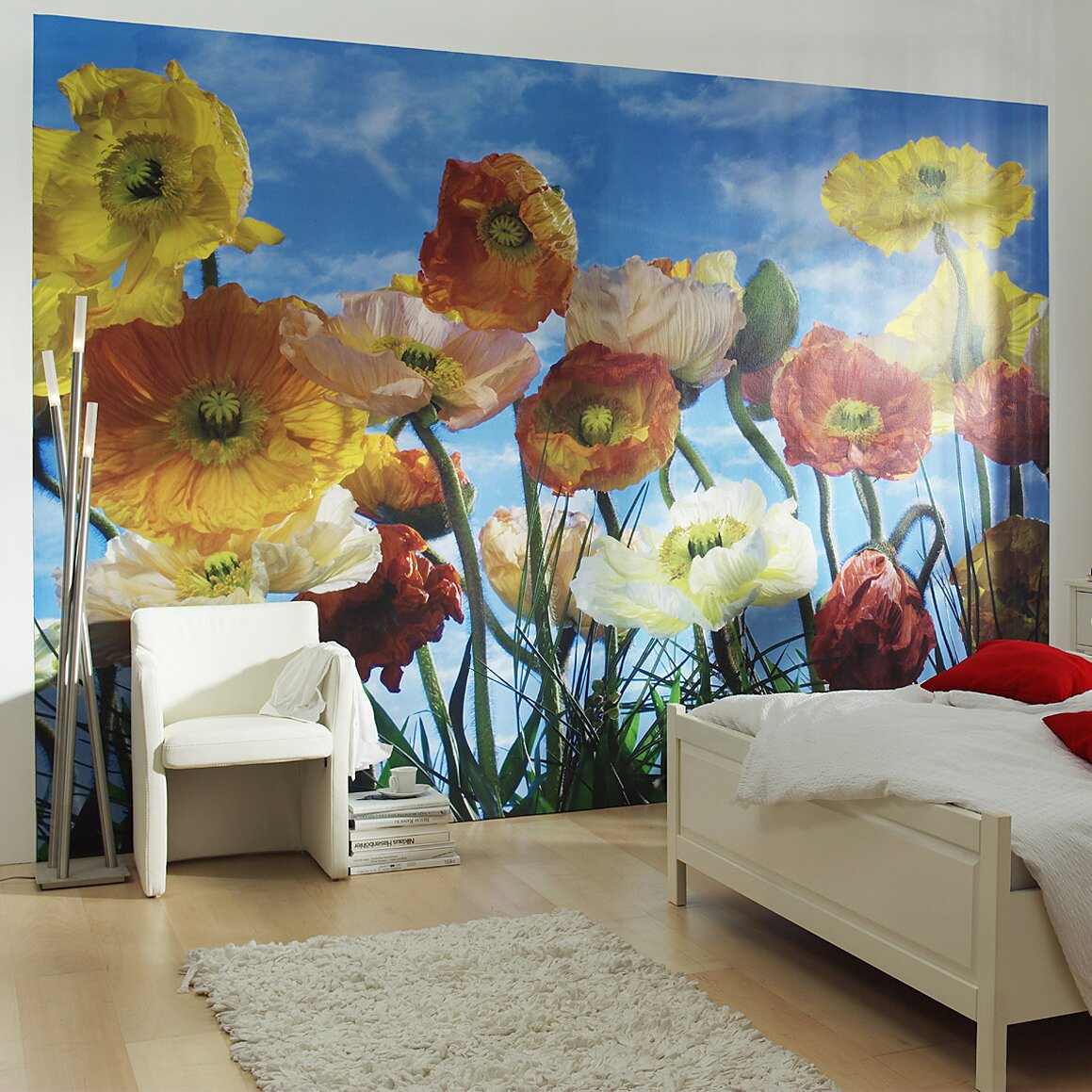 Brewster home fashions komar poppy wall mural reviews for Brewster wall mural