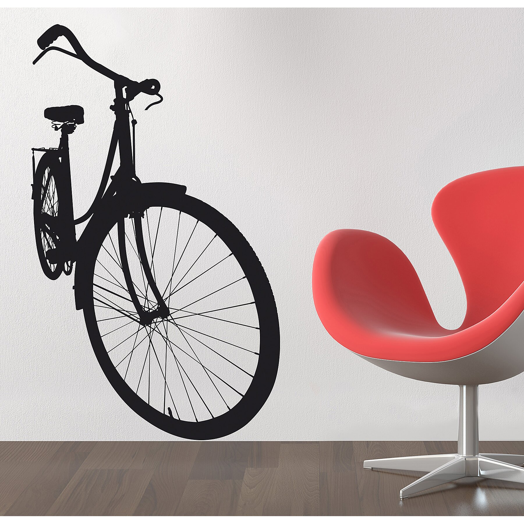 Euro Bicycle Wall Decal