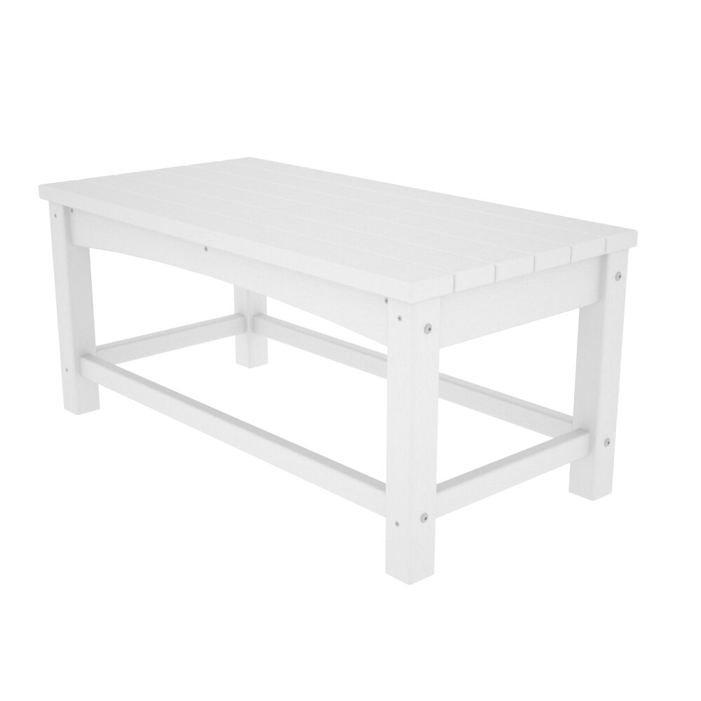 Polywood deep seating club coffee table reviews wayfair for Coffee tables with seating